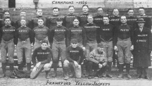 1926 NFL Champions Frankford Yellow Jackets